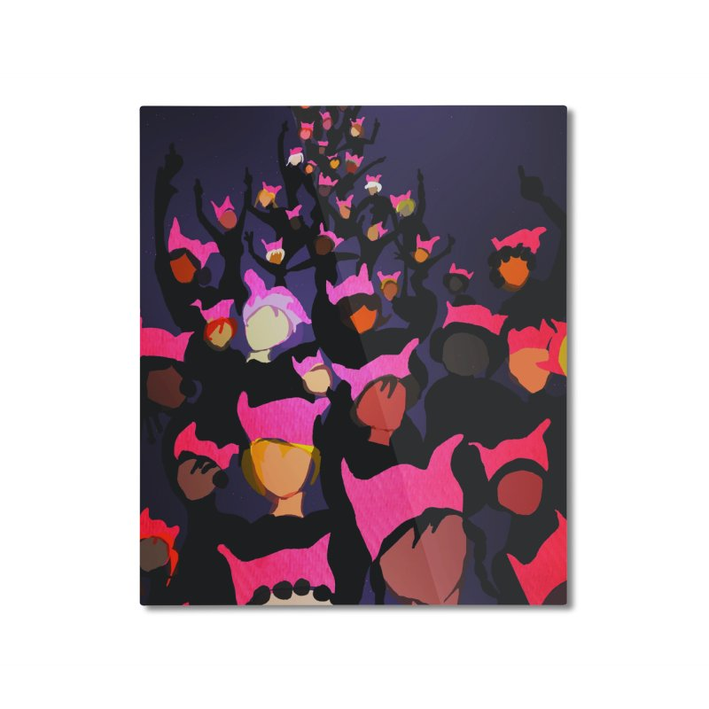 Women's March Design by Ceci Bowman Home Mounted Aluminum Print by Ceci Bowman's Product Site