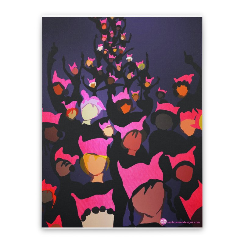 Women's March Design by Ceci Bowman Home Stretched Canvas by Ceci Bowman's Product Site
