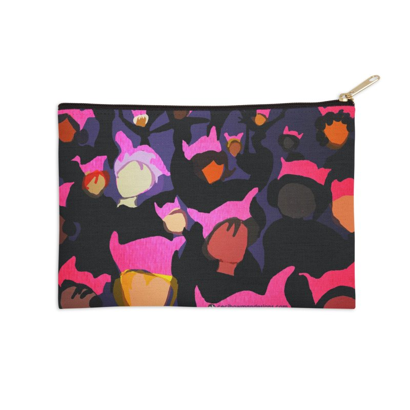 Women's March Design by Ceci Bowman Accessories Zip Pouch by Ceci Bowman's Product Site