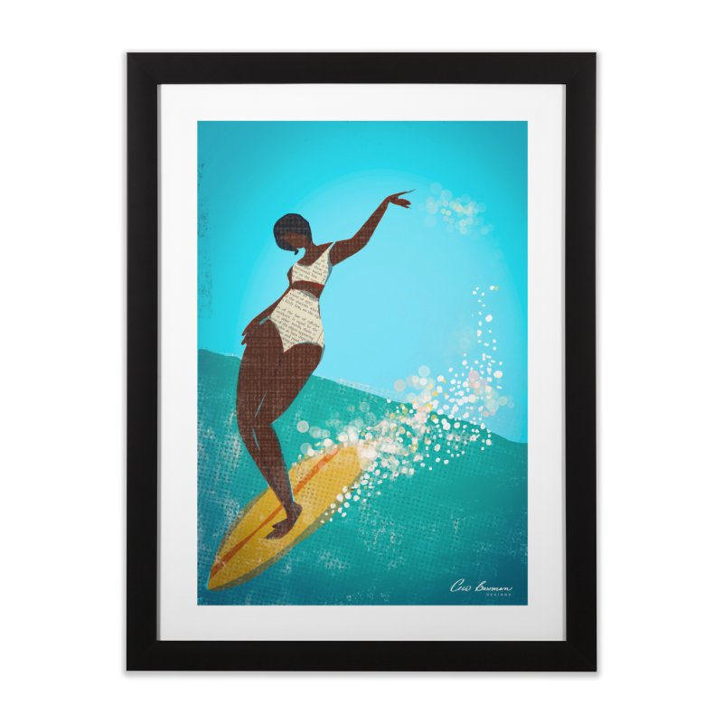 Surfer Grl Home Framed Fine Art Print by Ceci Bowman's Product Site