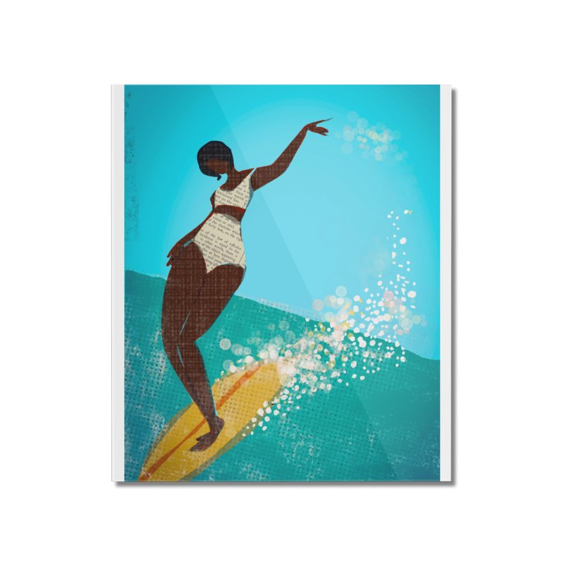 Surfer Grl Home Mounted Acrylic Print by Ceci Bowman's Product Site