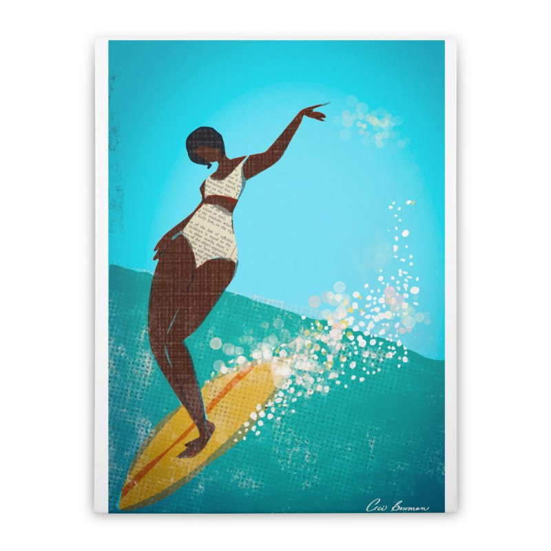 Surfer Grl Home Stretched Canvas by Ceci Bowman's Product Site