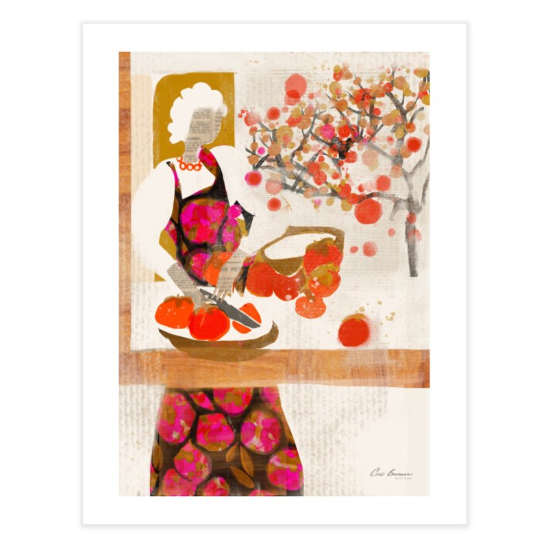 Persimmons Home Fine Art Print by Ceci Bowman's Product Site