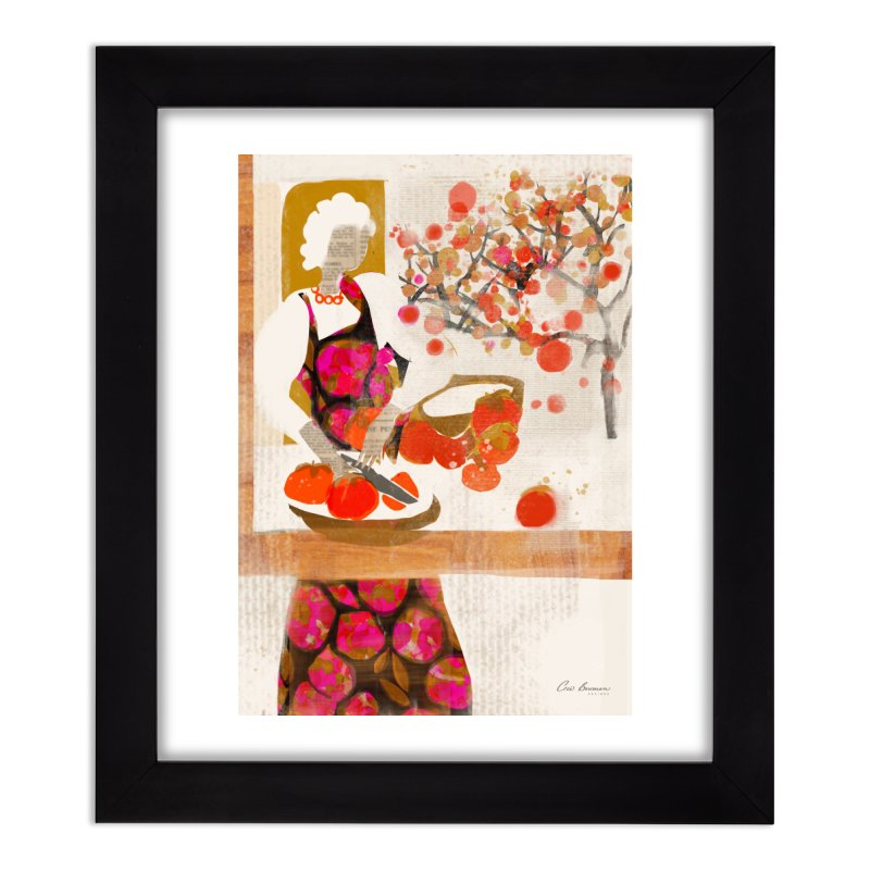 Persimmons Home Framed Fine Art Print by Ceci Bowman's Product Site