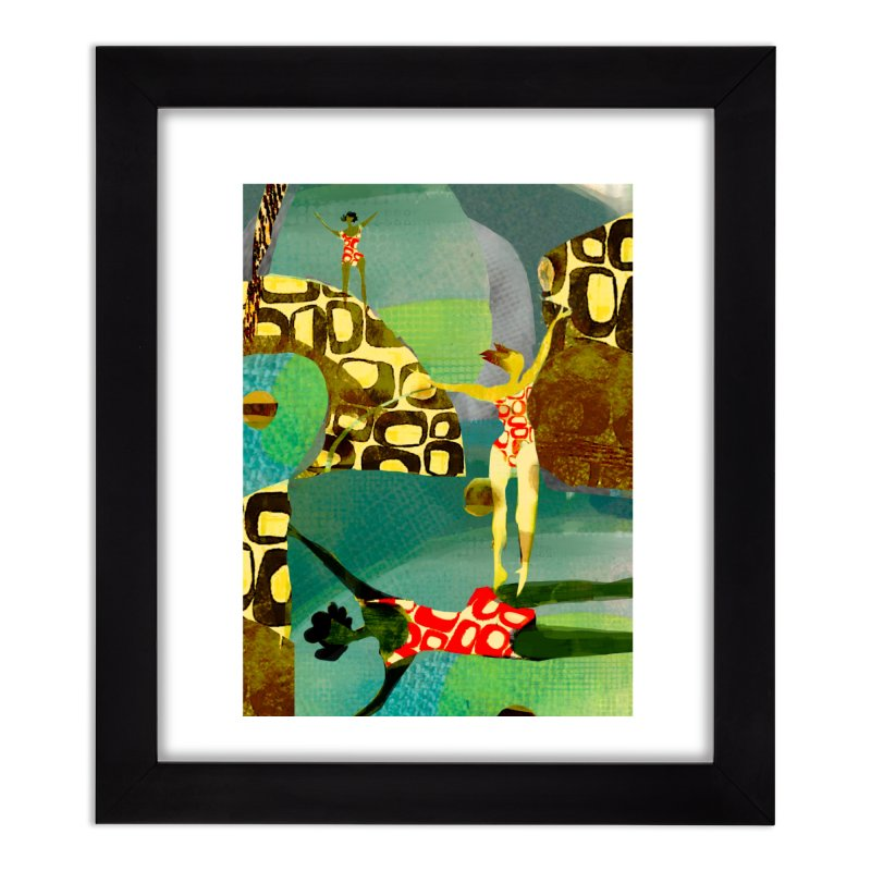 River Women- California River Series Home Framed Fine Art Print by Ceci Bowman's Product Site