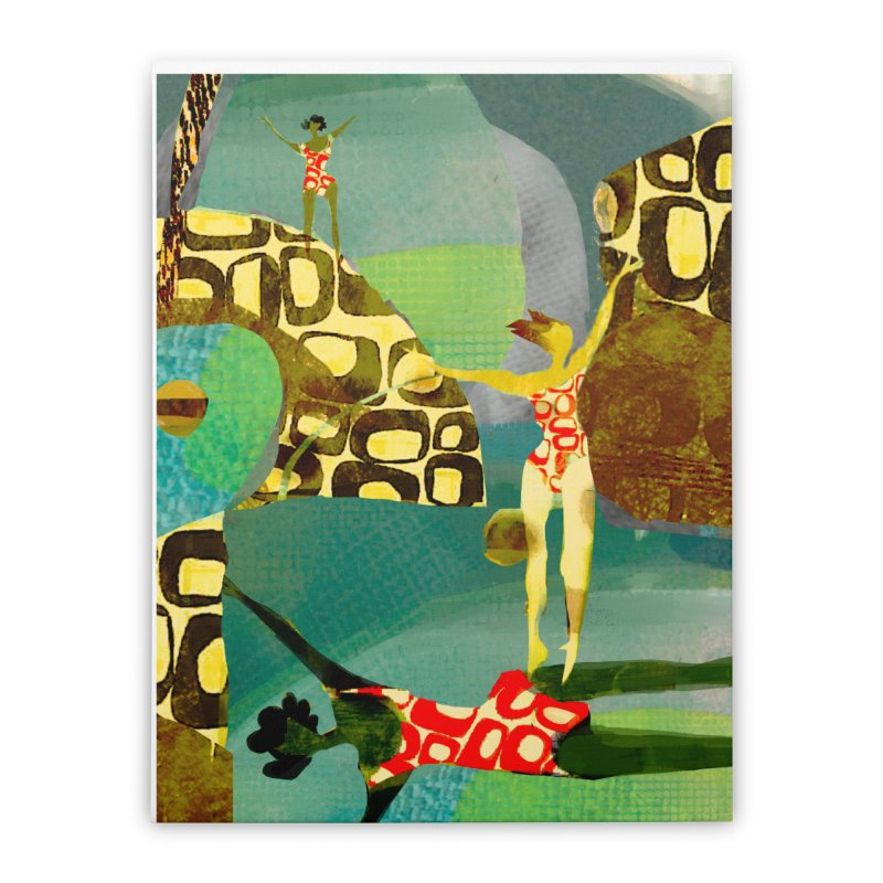 River Women- California River Series Home Stretched Canvas by Ceci Bowman's Product Site