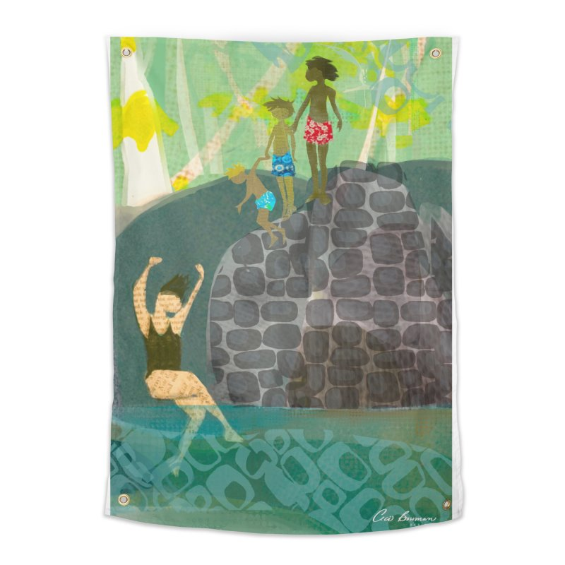 Just Jump-California River Series Home Tapestry by Ceci Bowman's Product Site