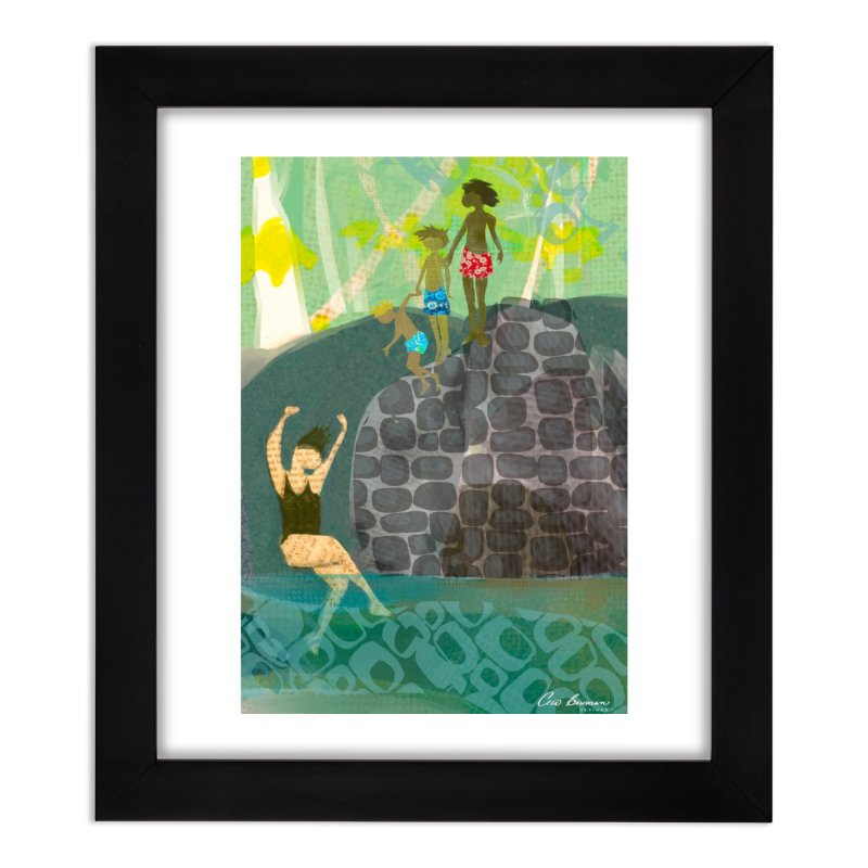 Just Jump-California River Series Home Framed Fine Art Print by Ceci Bowman's Product Site