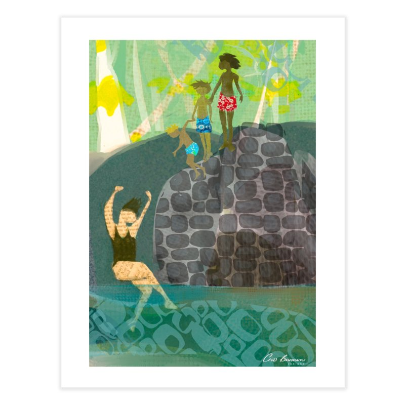 Just Jump-California River Series Home Fine Art Print by Ceci Bowman's Product Site