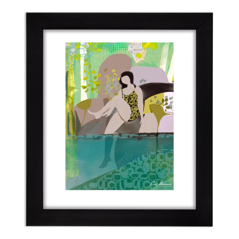 First Dip Home Framed Fine Art Print by Ceci Bowman's Product Site