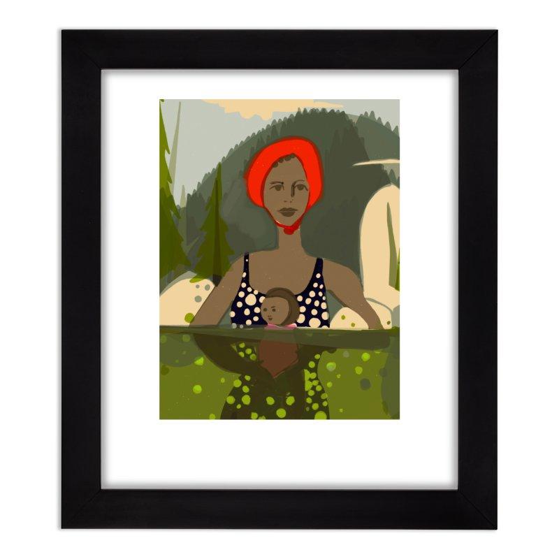 Mounain Swim Home Framed Fine Art Print by Ceci Bowman's Product Site