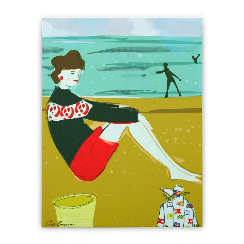 Jane's Mom Home Stretched Canvas by Ceci Bowman's Product Site