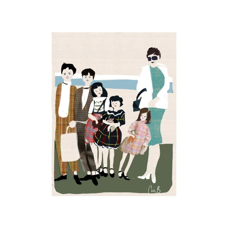 Ann Crane and Children Home Framed Fine Art Print by Ceci Bowman's Product Site