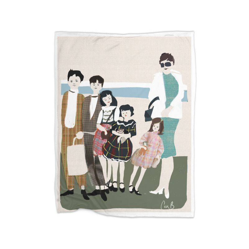 Ann Crane and Children Home Blanket by Ceci Bowman's Product Site