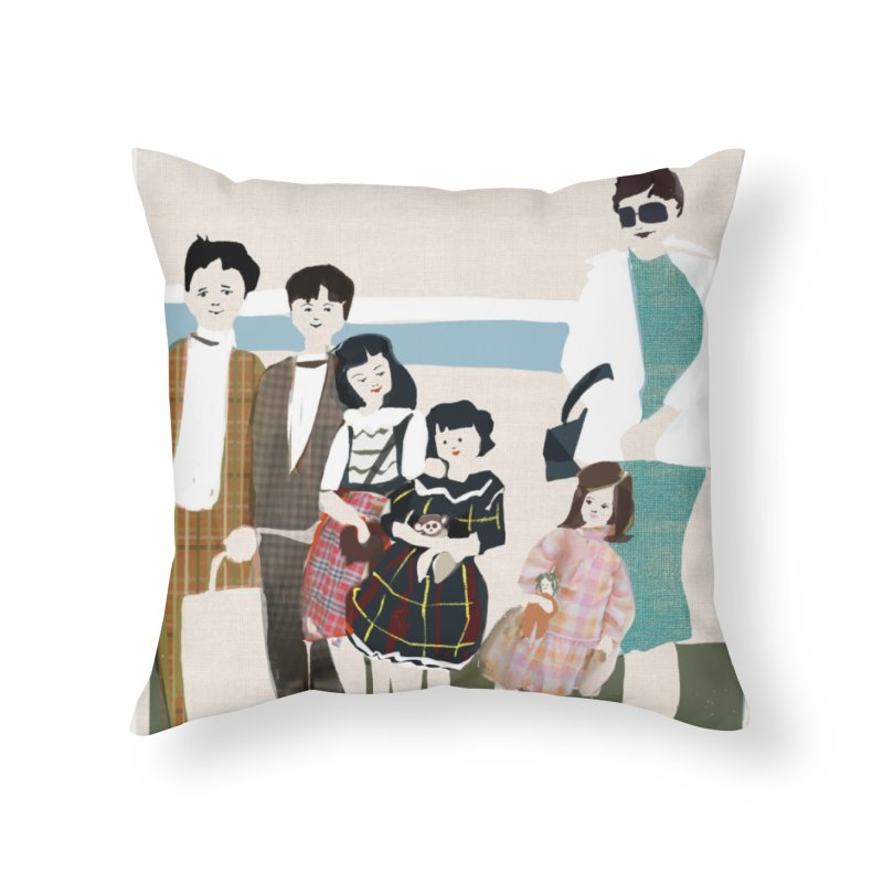 Ann Crane and Children Home Throw Pillow by Ceci Bowman's Product Site
