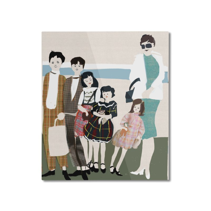 Ann Crane and Children Home Mounted Aluminum Print by Ceci Bowman's Product Site