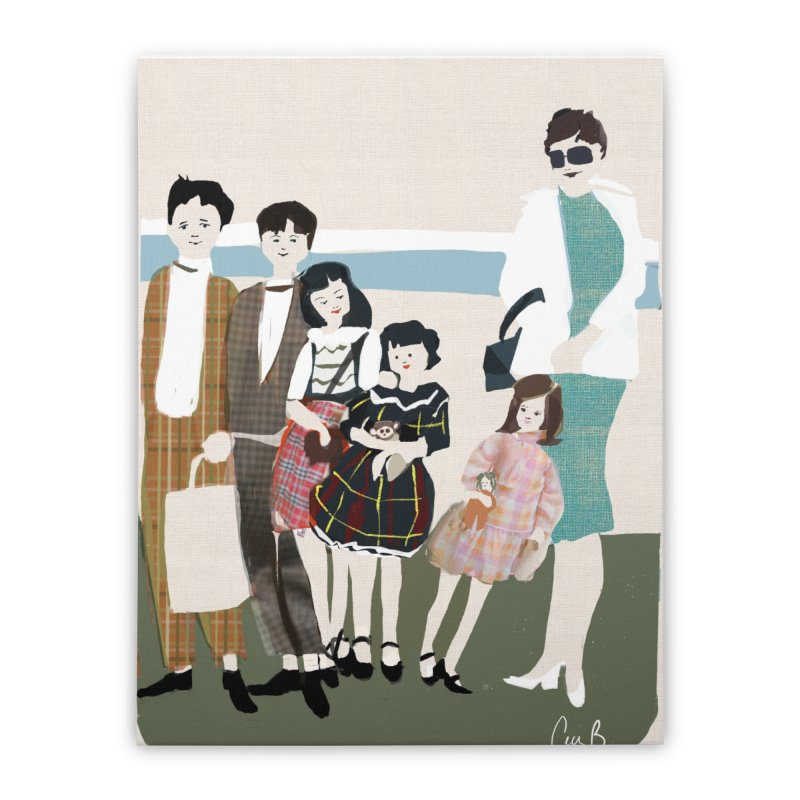 Ann Crane and Children Home Stretched Canvas by Ceci Bowman's Product Site