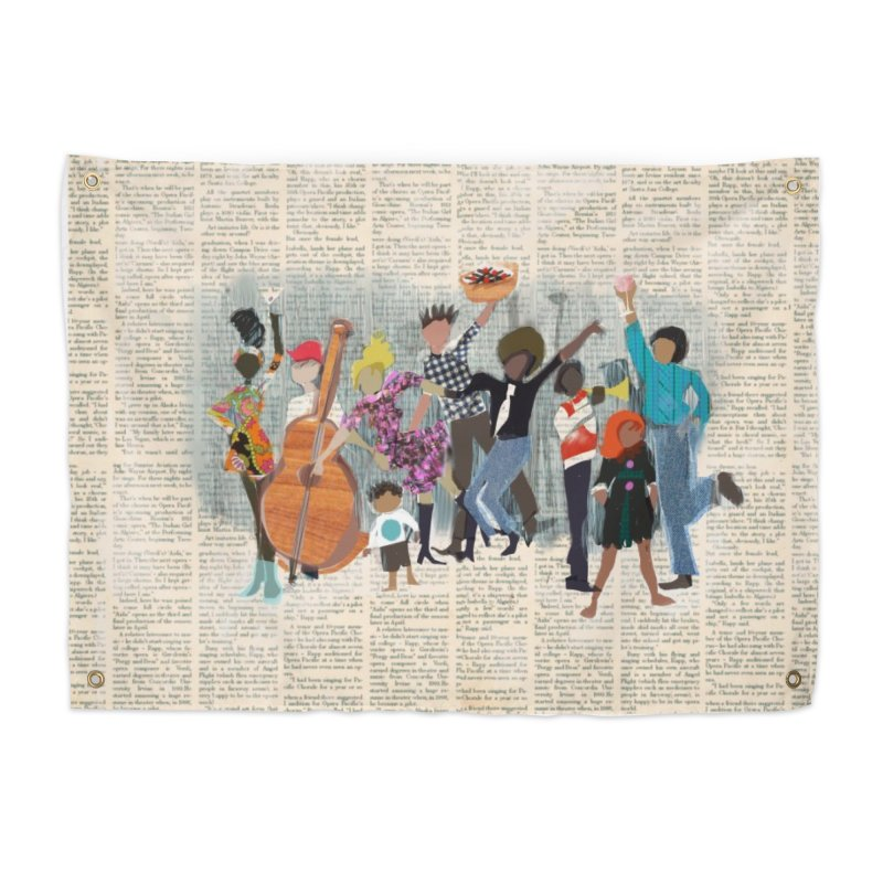 House Party Home Tapestry by Ceci Bowman's Product Site