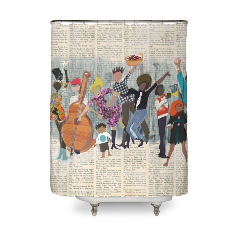 House Party Home Shower Curtain by Ceci Bowman's Product Site