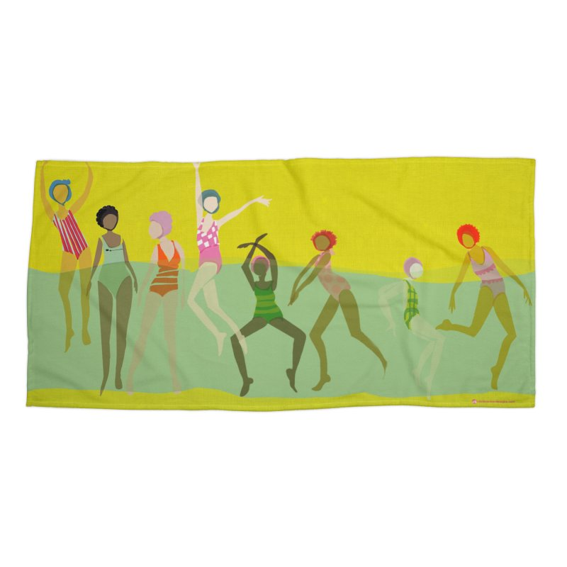 Swimmer Girls Beach Towel Accessories Beach Towel by Ceci Bowman's Product Site