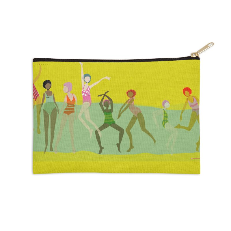 Swimmer Girls Weekender Bag Accessories Zip Pouch by Ceci Bowman's Product Site
