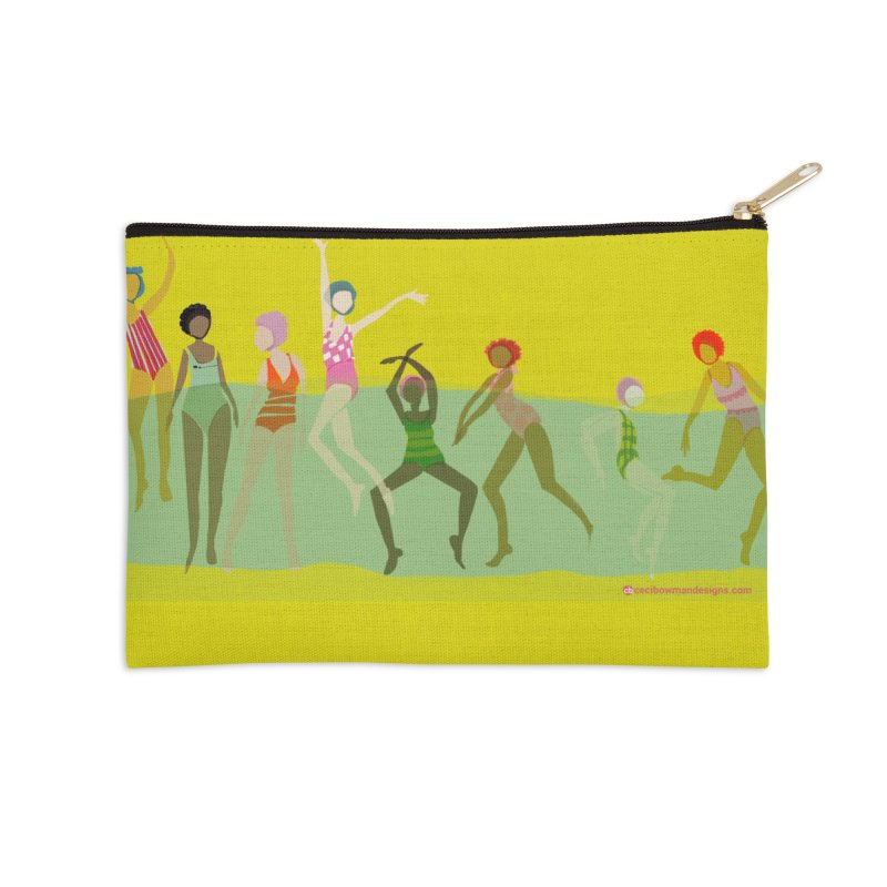 Swimmer Girls Zip Pouch in Zip Pouch by Ceci Bowman's Product Site