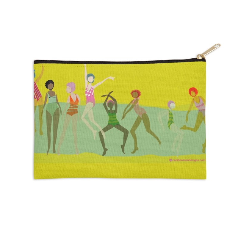 Swimmer Girls Zip Pouch Accessories Zip Pouch by Ceci Bowman's Product Site