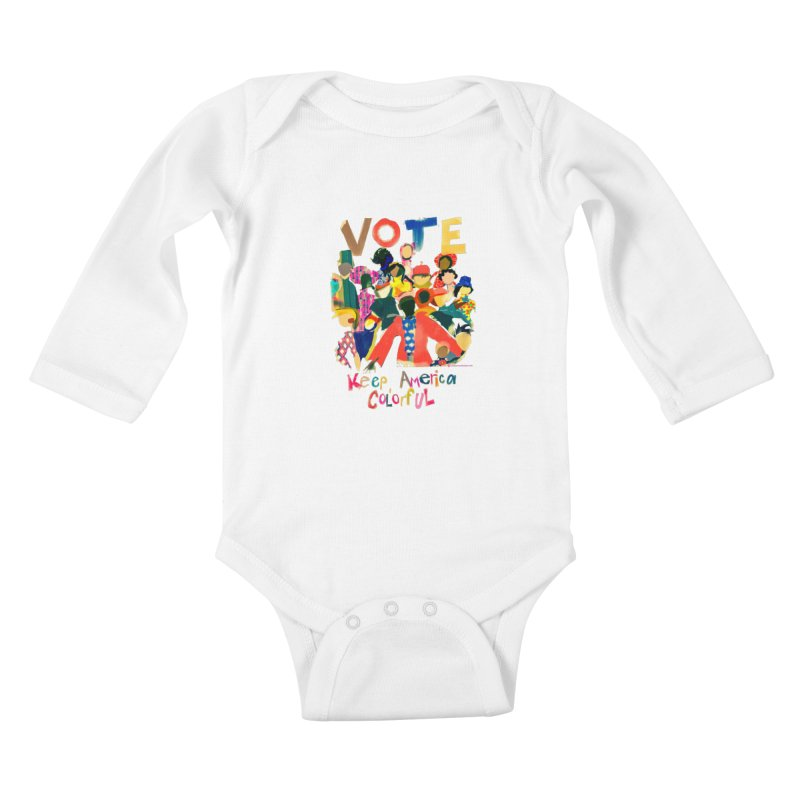 Vote- Keep America Colorful Kids Baby Longsleeve Bodysuit by Ceci Bowman's Product Site