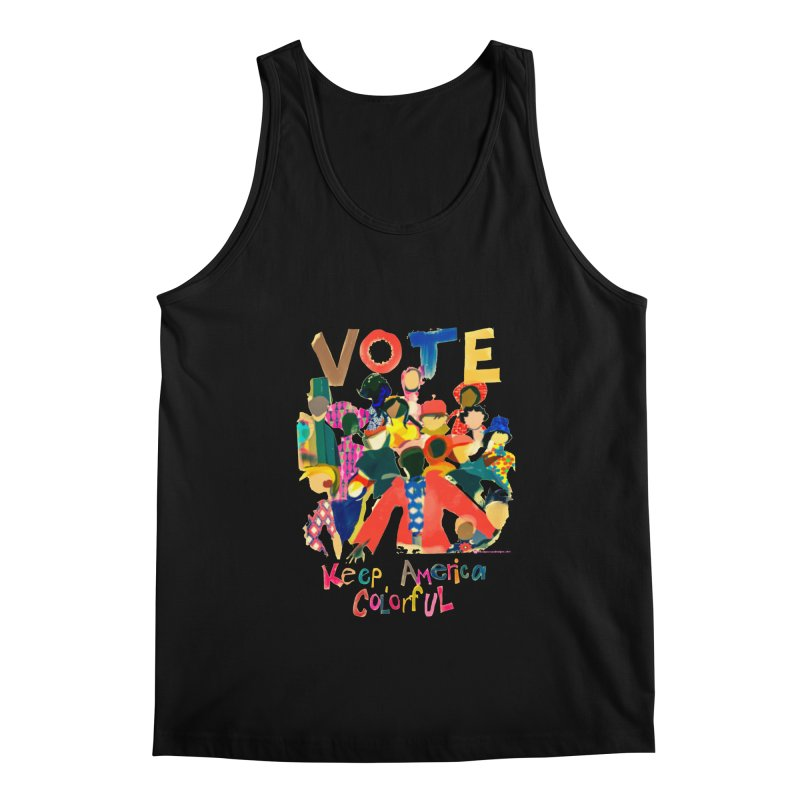 Vote- Keep America Colorful T-Shirt Men's Regular Tank by Ceci Bowman's Product Site