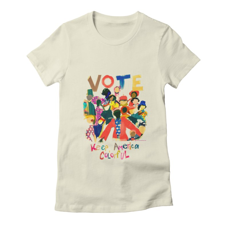 Vote- Keep America Colorful T-Shirt Women's T-Shirt by Ceci Bowman's Product Site