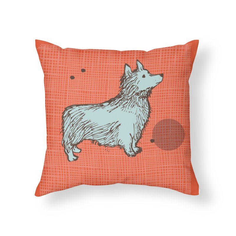 Blue Dog Home Throw Pillow by Ceci Bowman's Product Site