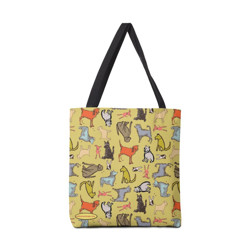Dog Party Chartreuse Accessories Bag by Ceci Bowman's Product Site
