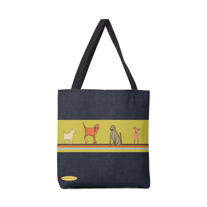 Dog Stripe Accessories Tote Bag Bag by Ceci Bowman's Product Site