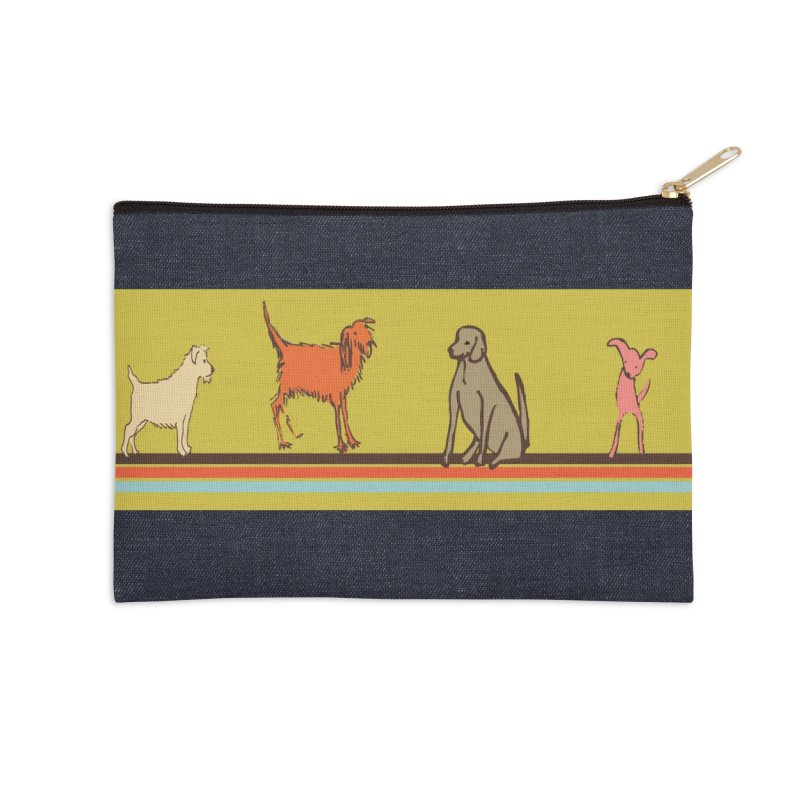 Dog Stripe Accessories Zip Pouch by Ceci Bowman's Product Site