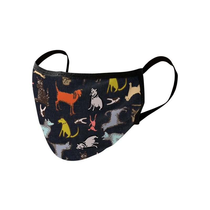 Dog Party Navy Accessories Face Mask by Ceci Bowman's Product Site
