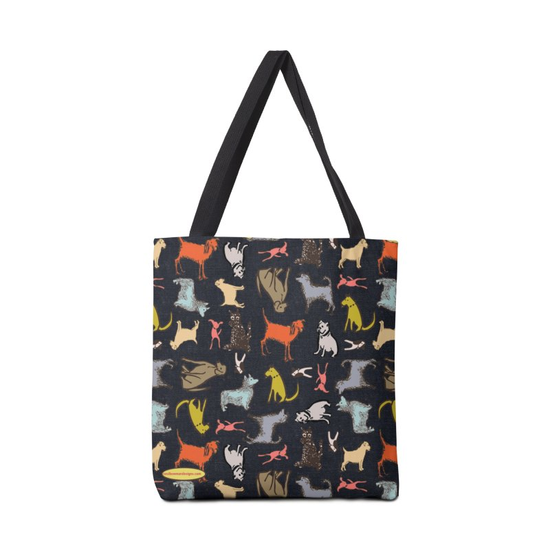 Dog Party Navy Accessories Bag by Ceci Bowman's Product Site