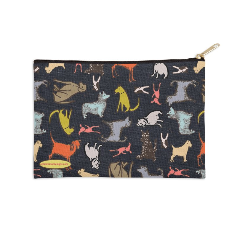 Dog Party Navy Accessories Zip Pouch by Ceci Bowman's Product Site