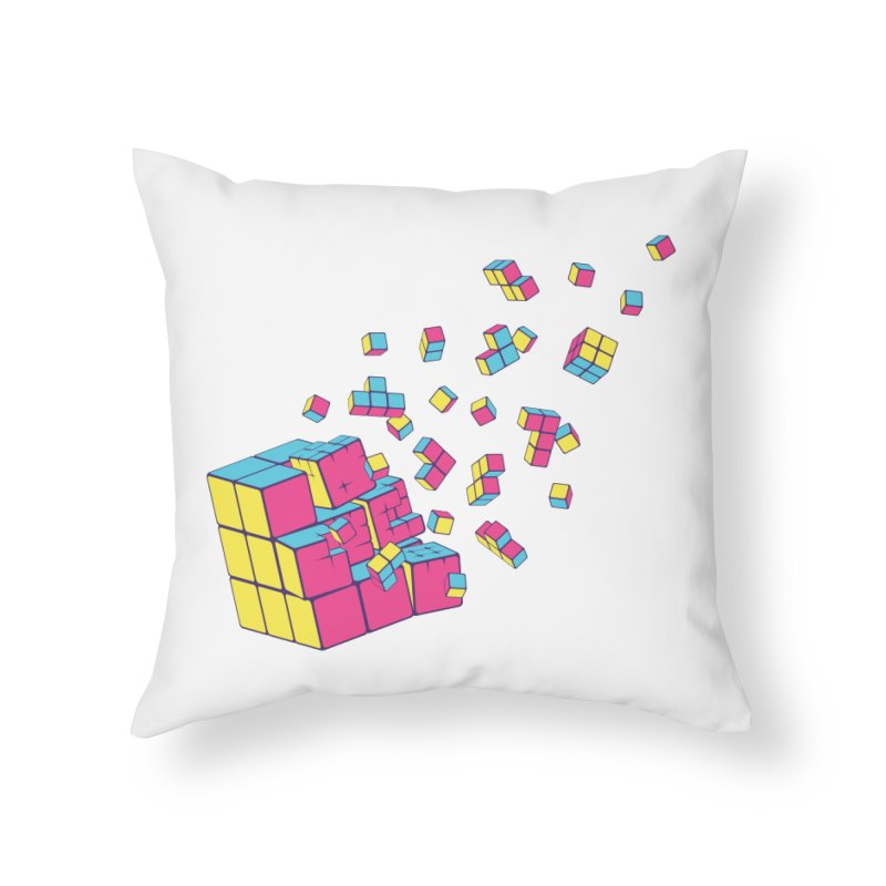 Rubixplosion II Home Throw Pillow by Cedric Lopez Fernandez