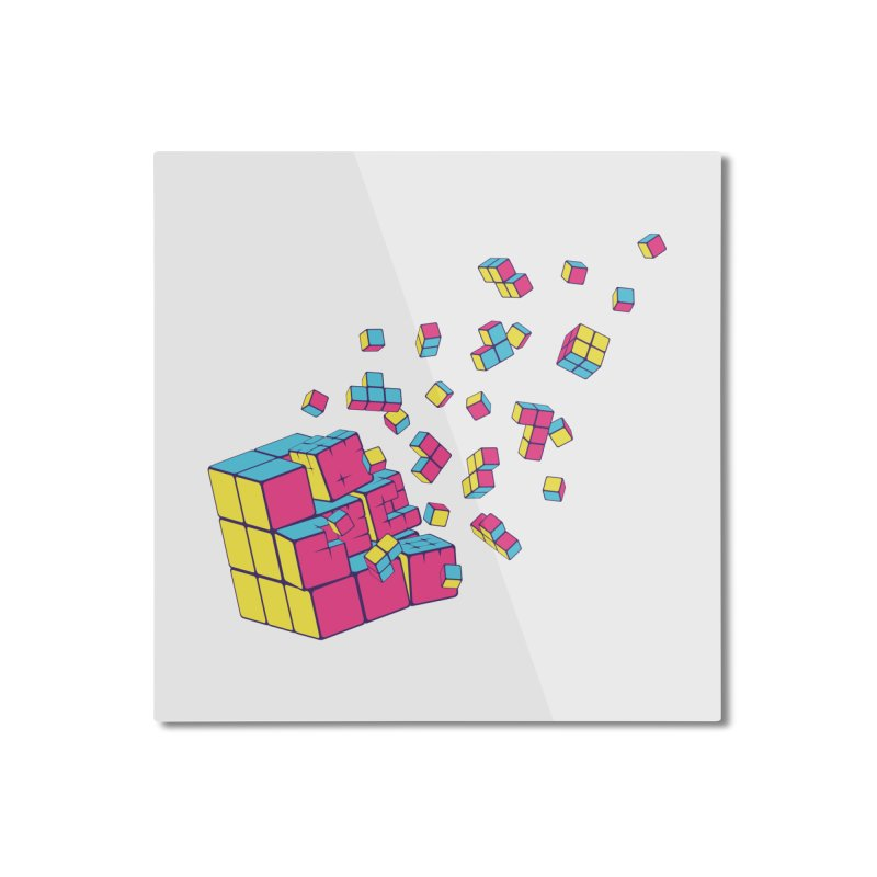 Rubixplosion II Home Mounted Aluminum Print by Cedric Lopez Fernandez