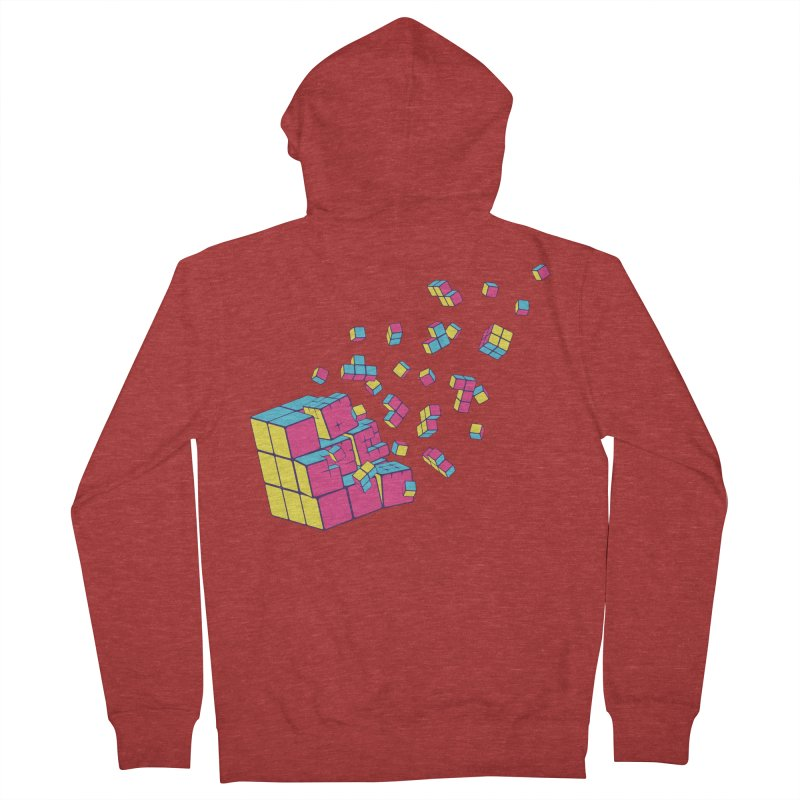 Rubixplosion II Men's Zip-Up Hoody by Cedric Lopez Fernandez