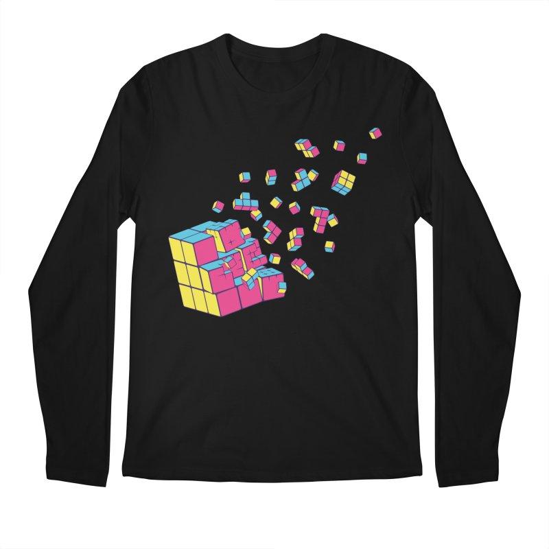 Rubixplosion II Men's Longsleeve T-Shirt by Cedric Lopez Fernandez