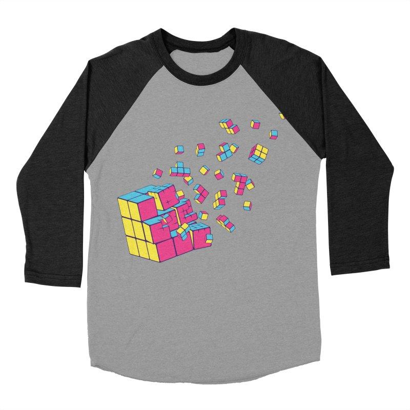 Rubixplosion II Women's Baseball Triblend T-Shirt by Cedric Lopez Fernandez