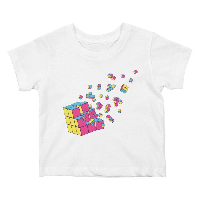 Rubixplosion II Kids Baby T-Shirt by Cedric Lopez Fernandez