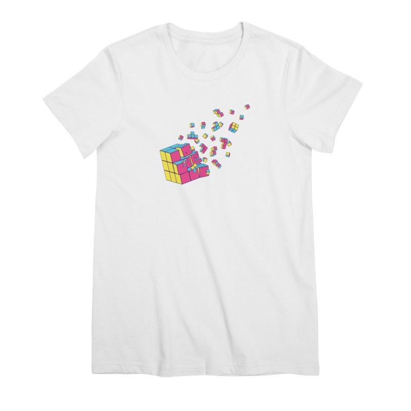 Rubixplosion II Women's Premium T-Shirt by Cedric Lopez Fernandez