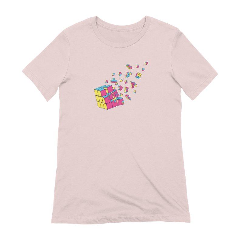 Rubixplosion II Women's Extra Soft T-Shirt by Cedric Lopez Fernandez