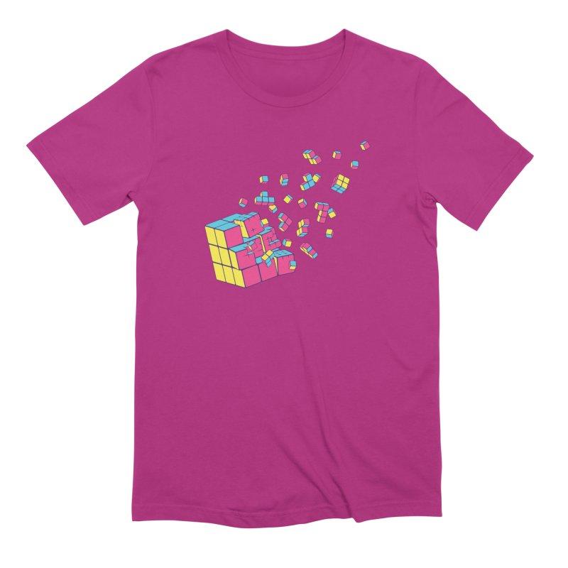 Rubixplosion II Men's Extra Soft T-Shirt by Cedric Lopez Fernandez