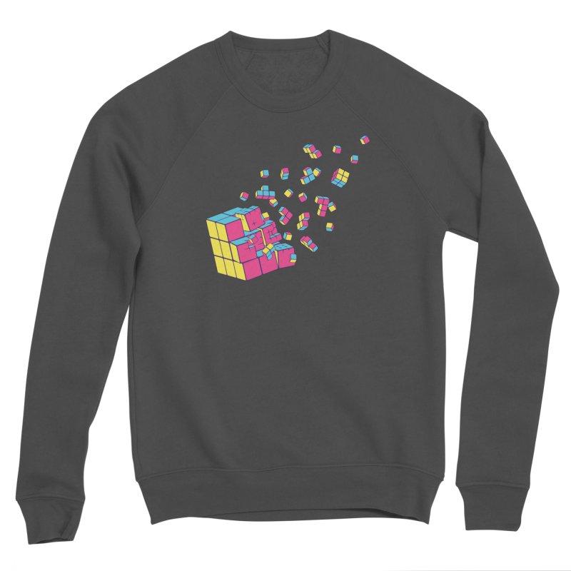 Rubixplosion II Men's Sponge Fleece Sweatshirt by Cedric Lopez Fernandez