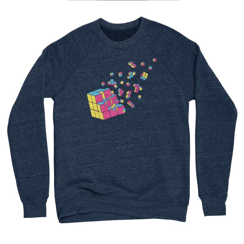 Rubixplosion II Women's Sponge Fleece Sweatshirt by Cedric Lopez Fernandez
