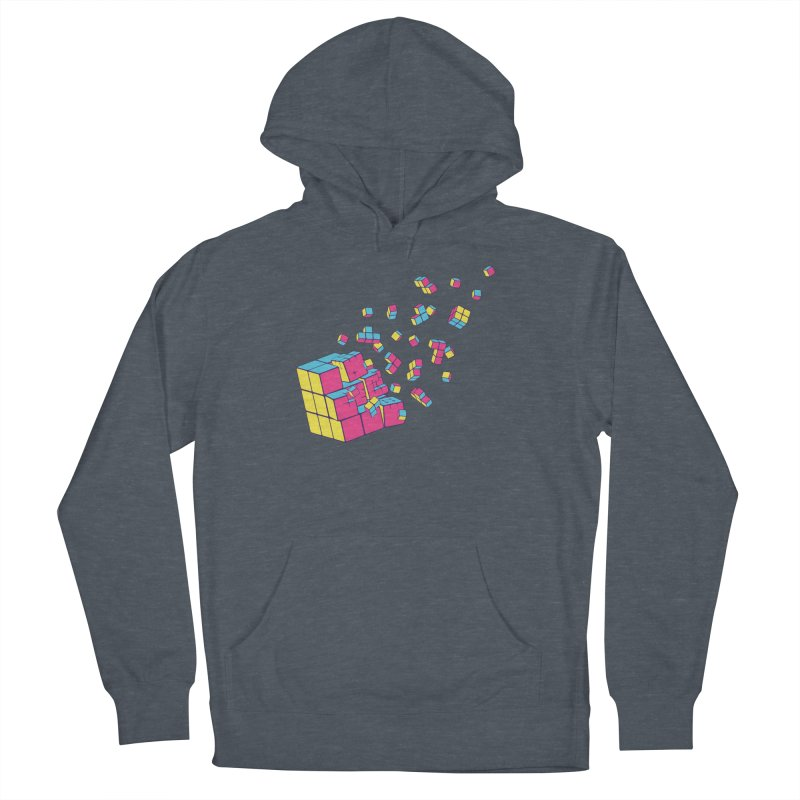 Rubixplosion II Men's French Terry Pullover Hoody by Cedric Lopez Fernandez