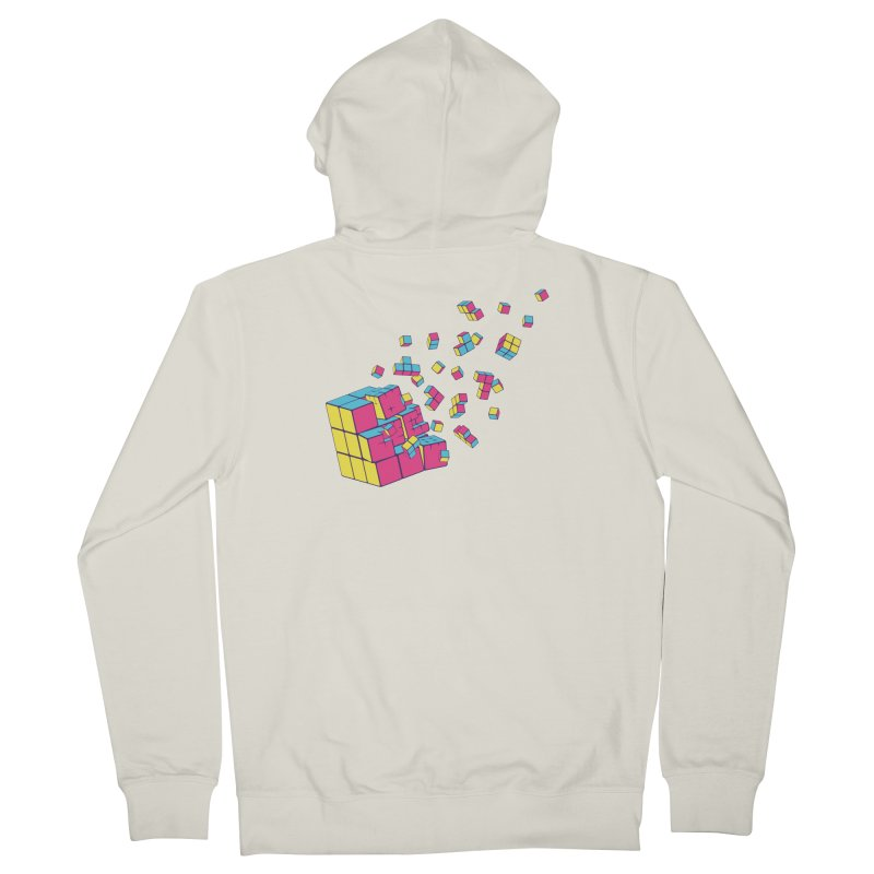 Rubixplosion II Women's French Terry Zip-Up Hoody by Cedric Lopez Fernandez